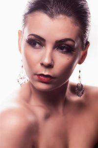 Beauty portrait with earrings